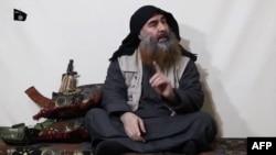 Ketua kelompok militan ISIS, Abu Bakr al-Baghdadi, tapi untuk pertama kali dalam lima tahun pada video propaganda di lokasi yang tidak disebutkan. Video itu dirilis oleh Al-Furqan media pada 29 April.