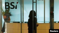 싱가포르의 스위스 은행 BSI 지사 건물. (자료사진)