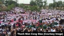 Cuộc biểu tình tại Giáo hạt Văn Hạnh, Hà Tĩnh.