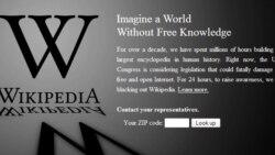 ویکیپدیا انگليسی با صفحه سياه به کاربران خود خوشآمد گفت