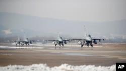 2017年12月美韓聯合軍演資料照。