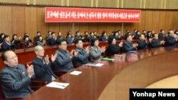 북한 조선중앙통신은 북한 정부·정당·단체가 지난 20일 인민문화궁전에서 '김정은 신년사 관철' 연합회의를 열었다고 21일 보도했다.