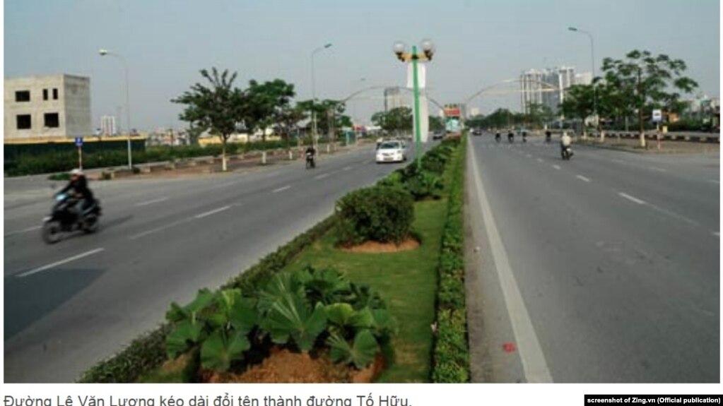 Một con đường được đặt tên Tố Hữu ở Hà Nội