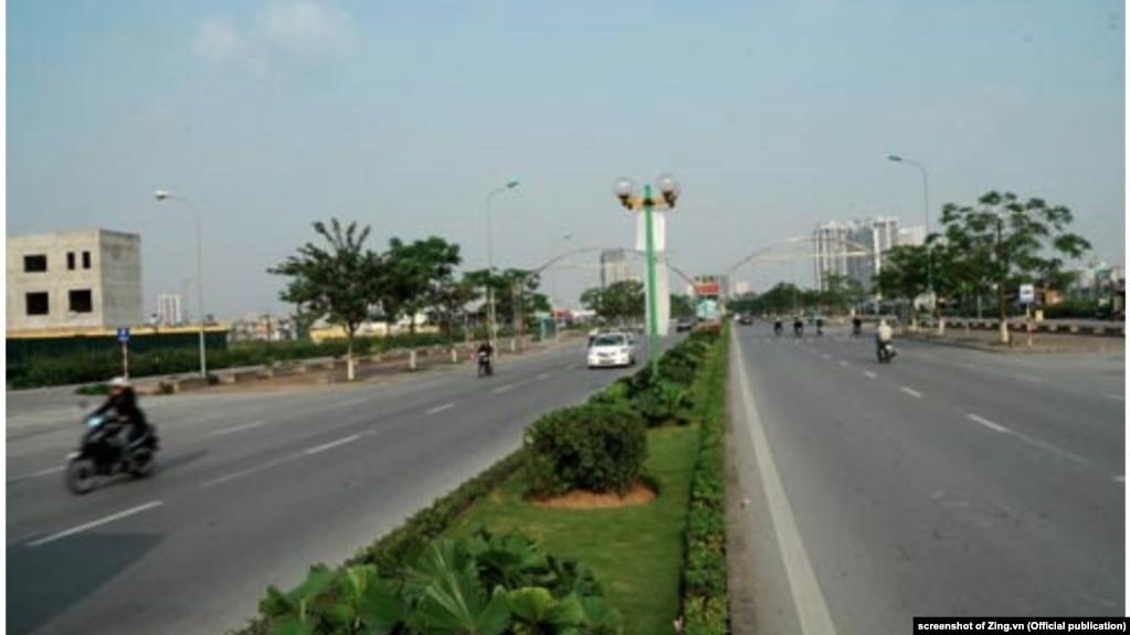 Một đại lộ ở Hà Nội. Hình minh họa.