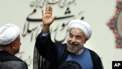 Iran's President Hassan Rouhani, in Tehran, Aug. 4, 2013.