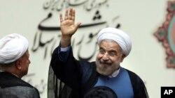 Iran's President Hassan Rouhani, in Tehran, Aug. 4, 2013.