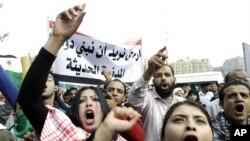 敘利亞反對派十一月十二日阿盟總部前示威