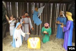 白宫前耶稣诞生景致(2012)(美国之音常晓拍摄)