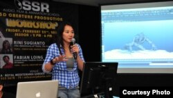 Rini Sugianto aktif mengajarkan animasi di Indonesia