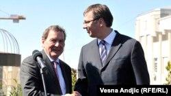 Sastanak Vučić-Šreder u Beogradu (foto RSE)