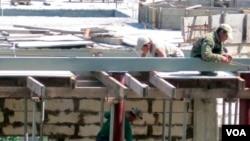 블라디보스톡 건설현장의 북한 노동자. (자료사진)