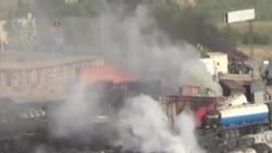 喀布爾郊外幾十輛油罐車起火