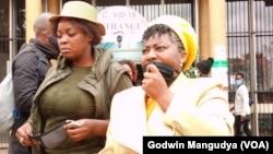 Nhengo dzeMDC Alliance Muzvare Joana Mamombe naMuzvare Cecilia Chimbiri