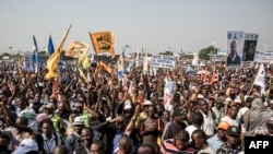 Les partisans de Moise Katumbi, chef de la coalition politique Ensemble, lors un rassemblement de tous les partis d'opposition de la coalition à Kinshasa, le 9 juin 2018.