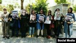 تجمع خانواده بازداشتشدگان روز جهانی کارگر مقابل مجلس
