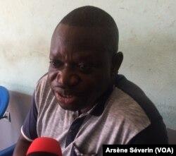 L'opposant Paul Marie Mpouele à Brazzaville, le 12 juin 2018.(VOA/Arsène Séverin)