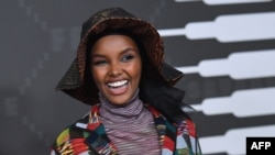 Somali American model Halima Aden arrives for the Savage X Fenty Show Presented By Amazon Prime Video at Barclays Center on Sept. 10, 2019 in Brooklyn, NY.