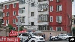 总参北京第一干休所离休干部住宅部分业主维权抗争,警方到场