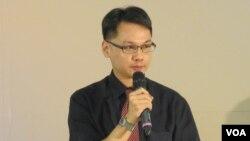 台湾人权博物馆筹备处主任王逸群(美国之音张永泰拍摄)