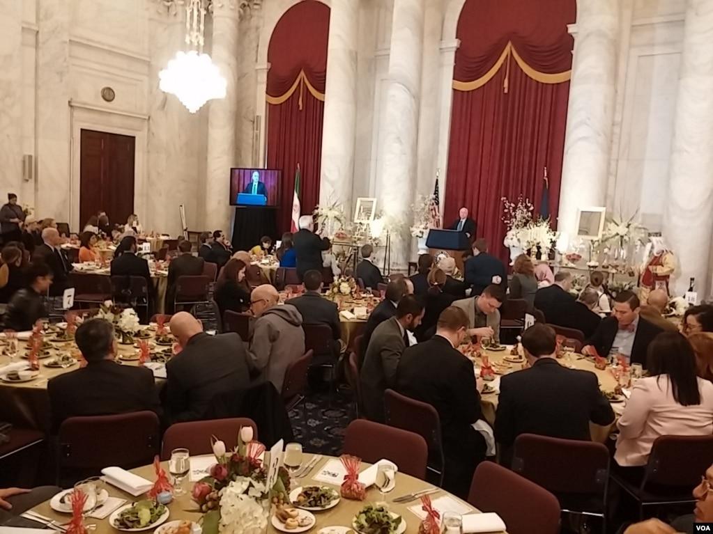 مراسم جشن نوروز به میزبانی «جوامع ایرانیان آمریکا» در کنگره آمریکا برگزار شد.