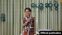 Daw Aung San Suu Kyin in Chin State (Photo- Myanmar State Counsellor office)