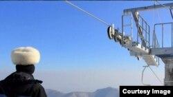 북한의 마식령 스키장 정경. 미국 AP통신의 진 리 전 평양지국장이 지난해 초 스키장 방문 당시 찍은 사진.