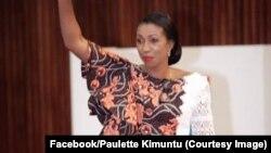 Jeanine Mabunda, élue présidente de l'Assemblée nationale, à Kinshasa, RDC, le 24 avril 2019. (Facebook/Paulette Kimuntu)