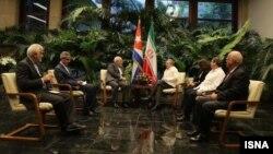 دیدار ظریف و کاسترو در هاوانا انجام شد.