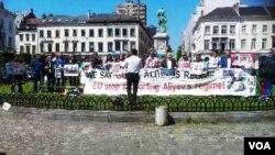 Brüsseldə etiraz aksiyası