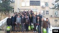 Rojnamegerên werzişê yên Hewlêrê li Diyarbekir.