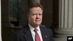 FILE - Former Virginia senator Jim Webb.