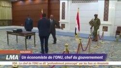 Le portrait du Premier ministre du Soudan Abdallah Hamdok