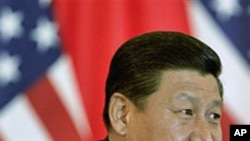 中国国家副主席习近平2011年8月19日在北京会晤到访的美国副总统拜登