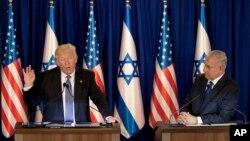 Los líderes Donald Trump, izquierda, y Benjamin Netanyahu comparten la esperanza de alcanzar la paz y la prosperidad entre Israel y Palestina.