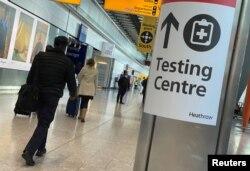 لندن کے ہیتھرو ایئرپورٹ پر مسافروں کے لیے کرونا ٹیسٹنگ سینتر قائم کر دیا گیا ہے۔ 15 فروری 2021