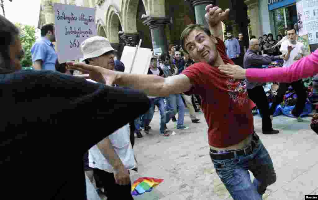 Гей-парад в Тбилиси.