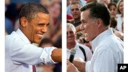 美國總統奧巴馬和共和黨總統侯選人羅姆尼