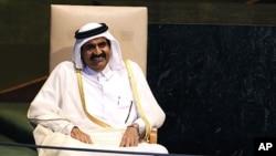ກະສັດ Sheikh Hamad bin Khalifa al-Thani ແຫ່ງປະເທດກາຕ້າ. ວັນທີ 14 ມັງກອນ 2012.