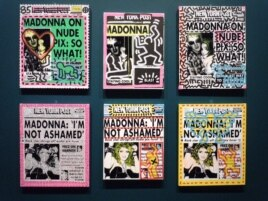 Andy Warhol's 1985 series of Madonna silkscreens, created in collaboration with Keith Haring.