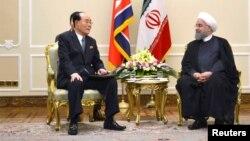 دیدار یک مقام ارشد کره شمالی با رئیس جمهوری ایران
