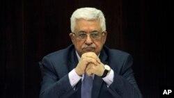 FILE - Palestinian President Mahmoud Abbas.
