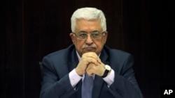 巴勒斯坦民族权力机构主席阿巴斯。