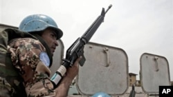 UN peacekeeper in Ivory Coast