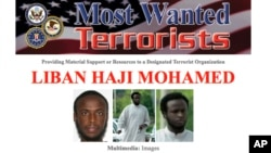 FILE - This Most Wanted flyer provided by the FBI shows Liban Haji Mohamed.