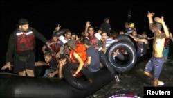 Sirijske izbeglice na grčkom ostrvu Kos