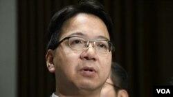 香港民主派資訊科技界立法會議員莫乃光。(美國之音湯惠芸)