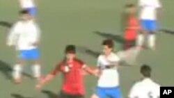تیم ملی فوتبال افغانستان در مصاف با تیم ملی فلسطین