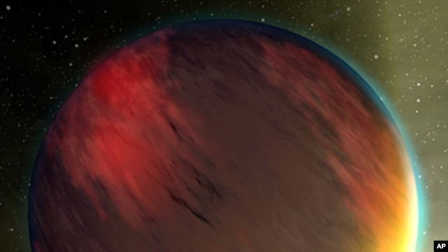 "An artist's concept of a ""Hot Jupiter"" extrasolar planet"
