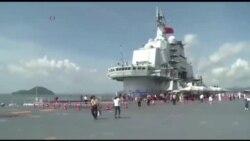 ชาวฮ่องกงตื่นเต้นได้ชมเรือบรรทุกเครื่องบินจีนอย่างใกล้ชิด