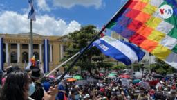 Miles de ciudadanos se dieron cita el 15 de septiembre de 2021 en las calles de San Salvador para expresar su descontento con algunas de las últimas medidas del Gobierno.